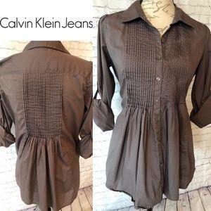 Calvin Klein Jeans brown blouse, size M